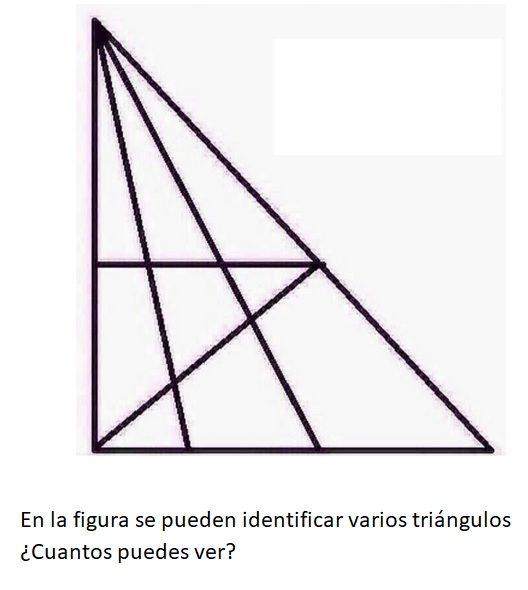 ¿Cuántos triángulos puedes ver?