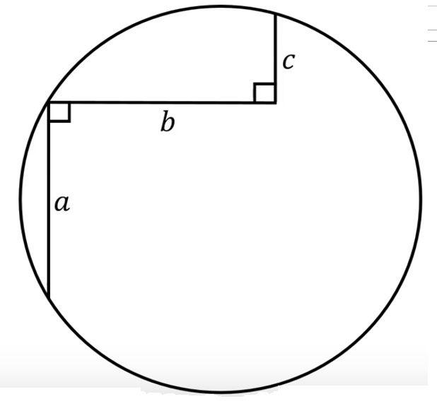 Radio de círculo y tramos a, b y c