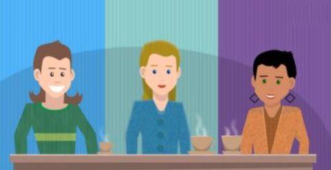 Tres lógicos en el café