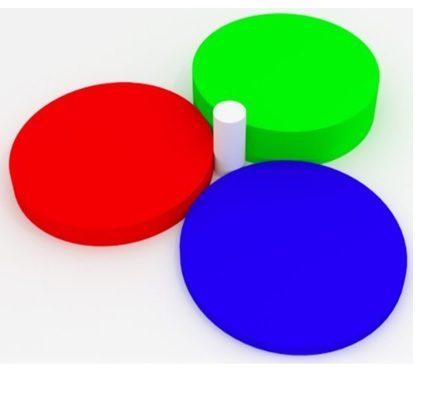 Cilindro entre círculos