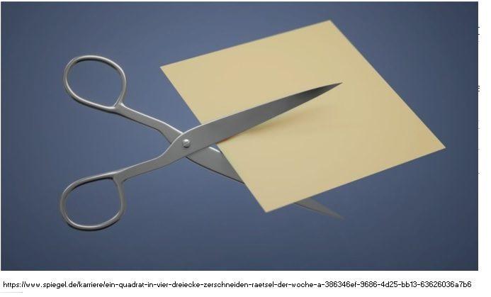 Cuadrado cortado en triángulos