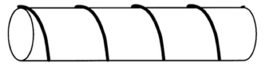 Cuerda alrededor de un cilindro
